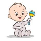 Bebê Rattler dos desenhos animados Imagens de Stock