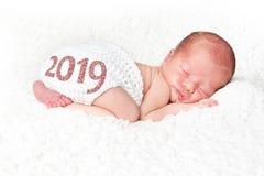 Bebê 2019 recém-nascido imagem de stock