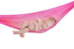 Bebê recém-nascido adormecido Imagem de Stock Royalty Free