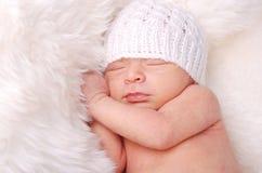Bebê recém-nascido bonito fotografia de stock royalty free