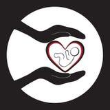 Bebê recém-nascido 3 da proteção imagem de stock