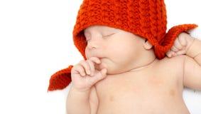 Bebê recém-nascido de sono. Fotos de Stock Royalty Free