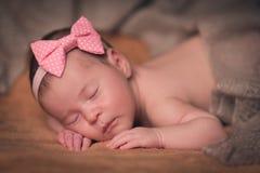 Bebê recém-nascido doce bonito Imagens de Stock Royalty Free