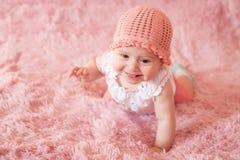 Bebê recém-nascido feliz Imagens de Stock Royalty Free