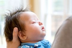 Bebê recém-nascido que está sendo guardado fotos de stock royalty free