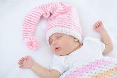 Bebê recém-nascido uma idade do mês Fotos de Stock Royalty Free