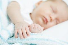 Bebê recém-nascido uma idade do mês Imagens de Stock Royalty Free