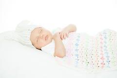 Bebê recém-nascido uma idade do mês Fotografia de Stock