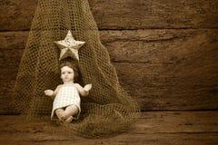 Bebê religioso Jesus do Natal Fotos de Stock