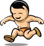 Bebê Running Ilustração do Vetor