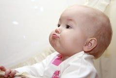Bebê sério Fotos de Stock