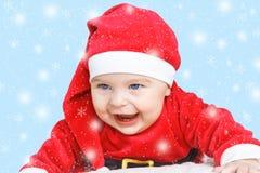 Bebê Santa Claus Fotografia de Stock