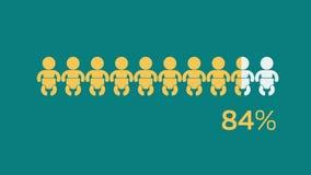 Bebê social dos meios infographic ilustração stock