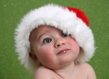 Bebê sonhador do Natal Fotografia de Stock Royalty Free