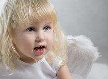 Bebê surpreendido Fotografia de Stock