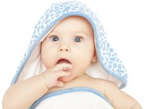 Bebê surpreendido, choc ou curioso Imagem de Stock