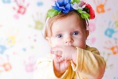 Bebê surpreendido pequeno Imagem de Stock Royalty Free