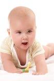 Bebê toothbrooshing6 fotografia de stock royalty free