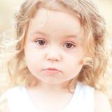 Bebê triste fora Imagem de Stock