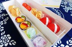 Bebê um grupo do presente da celebração do mês Imagem de Stock