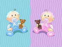 Bebês Fotografia de Stock Royalty Free