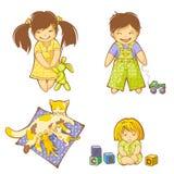 Bebês ilustração royalty free