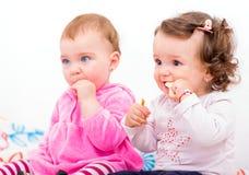 Bebês adoráveis Fotografia de Stock
