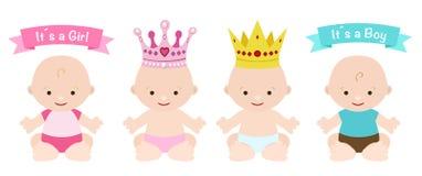 Bebês ajustados Fotografia de Stock