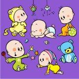 Bebês bonitos ilustração do vetor