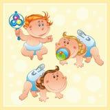 Bebês com fundo ilustração royalty free