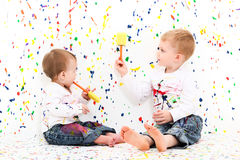 Bebês da pintura imagem de stock royalty free