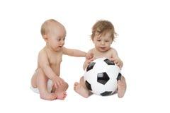 Bebês do futebol Fotos de Stock