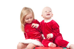Bebês do Natal Foto de Stock Royalty Free