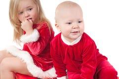 Bebês do Natal Fotografia de Stock Royalty Free