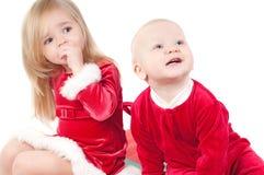 Bebês do Natal Fotografia de Stock