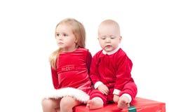 Bebês do Natal Imagens de Stock Royalty Free