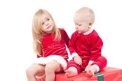 Bebês do Natal Fotos de Stock Royalty Free