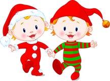 Bebês do Natal Fotos de Stock