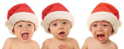 Bebês do Natal de Santa Fotos de Stock