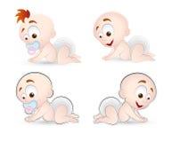 Bebês do vetor Fotos de Stock Royalty Free