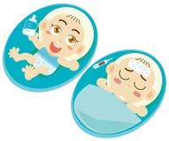Bebês doentes Imagens de Stock Royalty Free