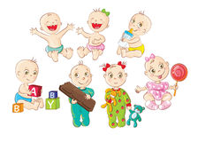 Bebês felizes Imagem de Stock Royalty Free