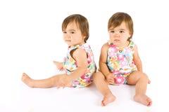 Bebês gêmeos foto de stock royalty free