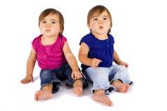 Bebês gêmeos imagem de stock
