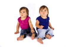 Bebês gêmeos imagens de stock royalty free