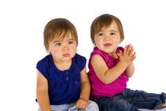 Bebês gêmeos imagem de stock royalty free