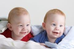 Bebês gêmeos bonitos Foto de Stock Royalty Free