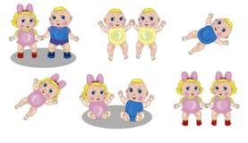 Bebês isolados vetor Fotografia de Stock Royalty Free