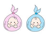 Bebês recém-nascidos Imagens de Stock Royalty Free