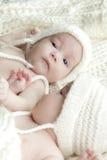 Bebês recém-nascidos dos gêmeos fotografia de stock royalty free